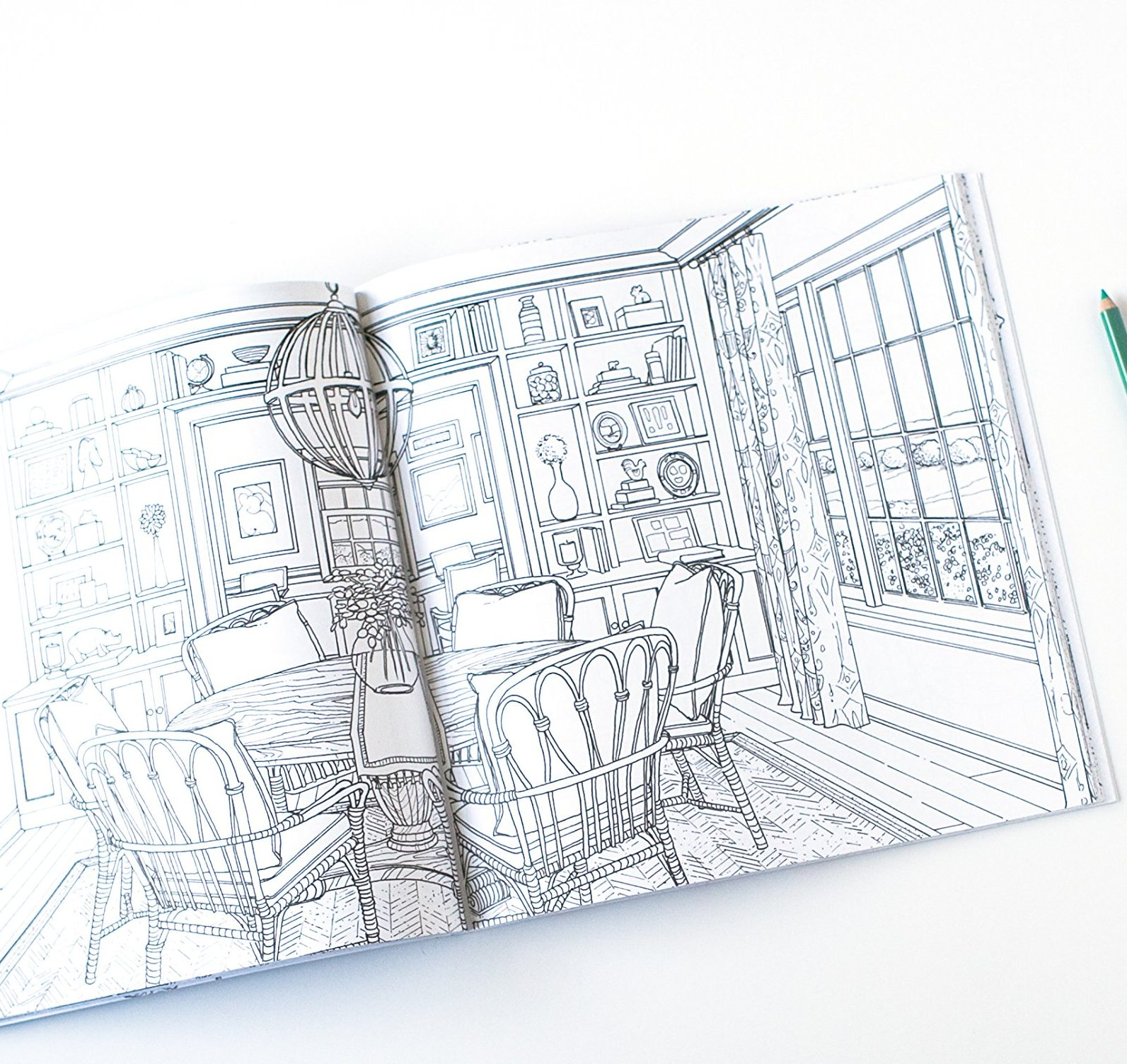 Home Decor Coloring Book For Adults