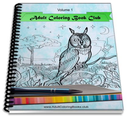 Adult Coloring Book Club free sample
