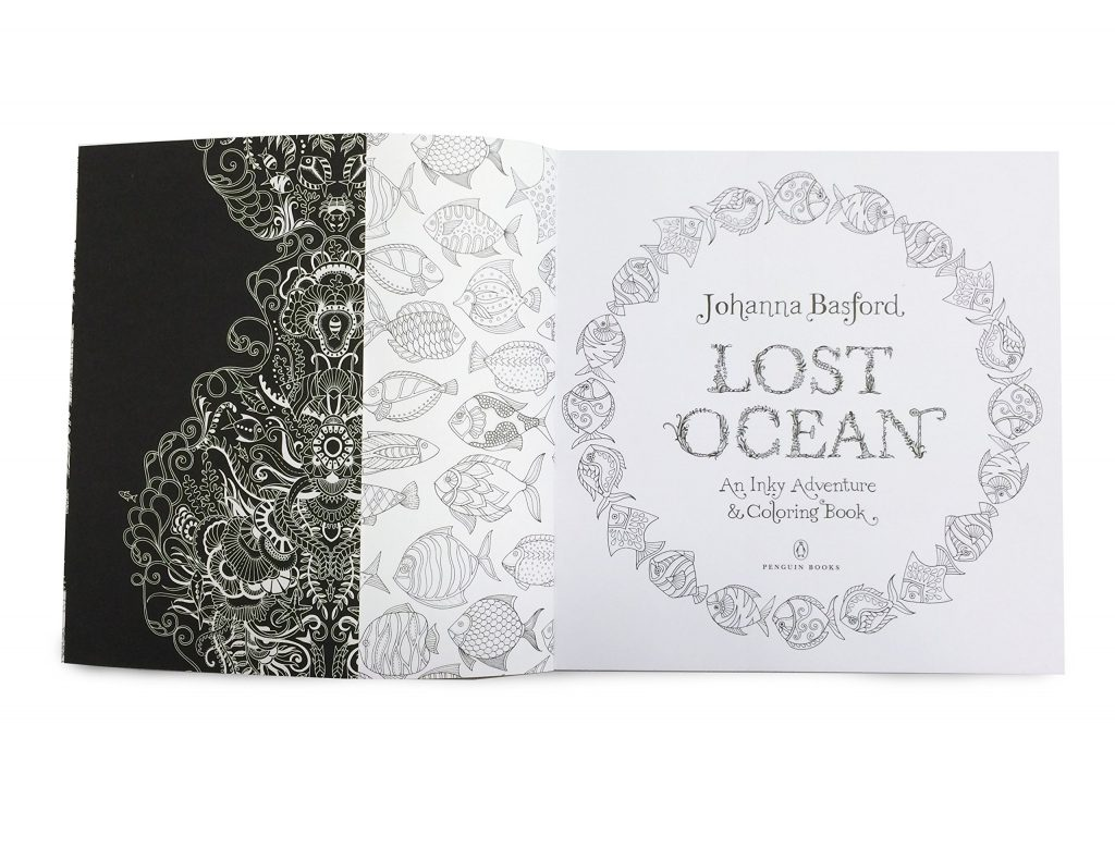 Johanna Basford Lost Ocean Sea World Coloring Book