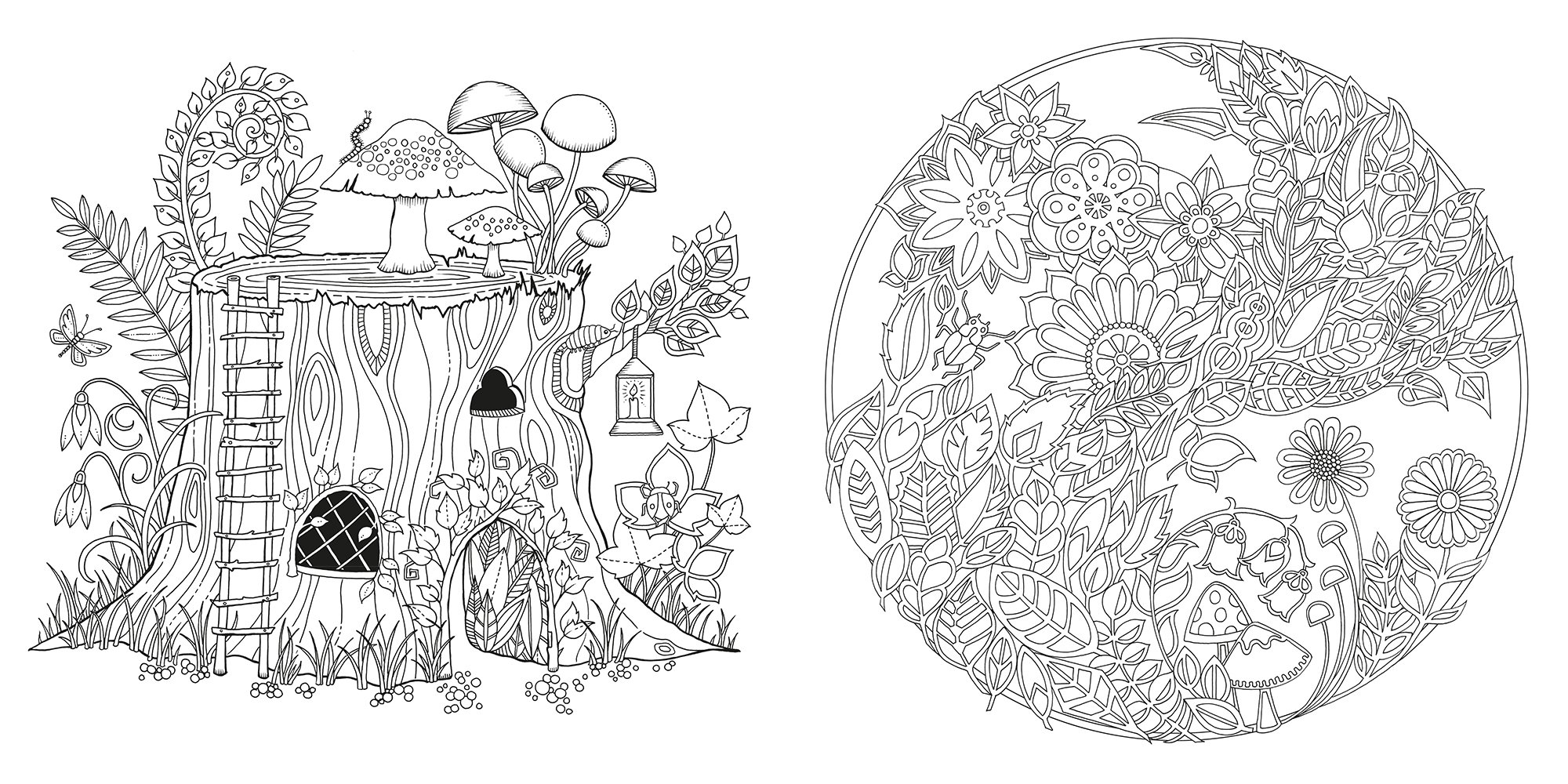 enchanted forest an inky quest u0026 coloring book coloring