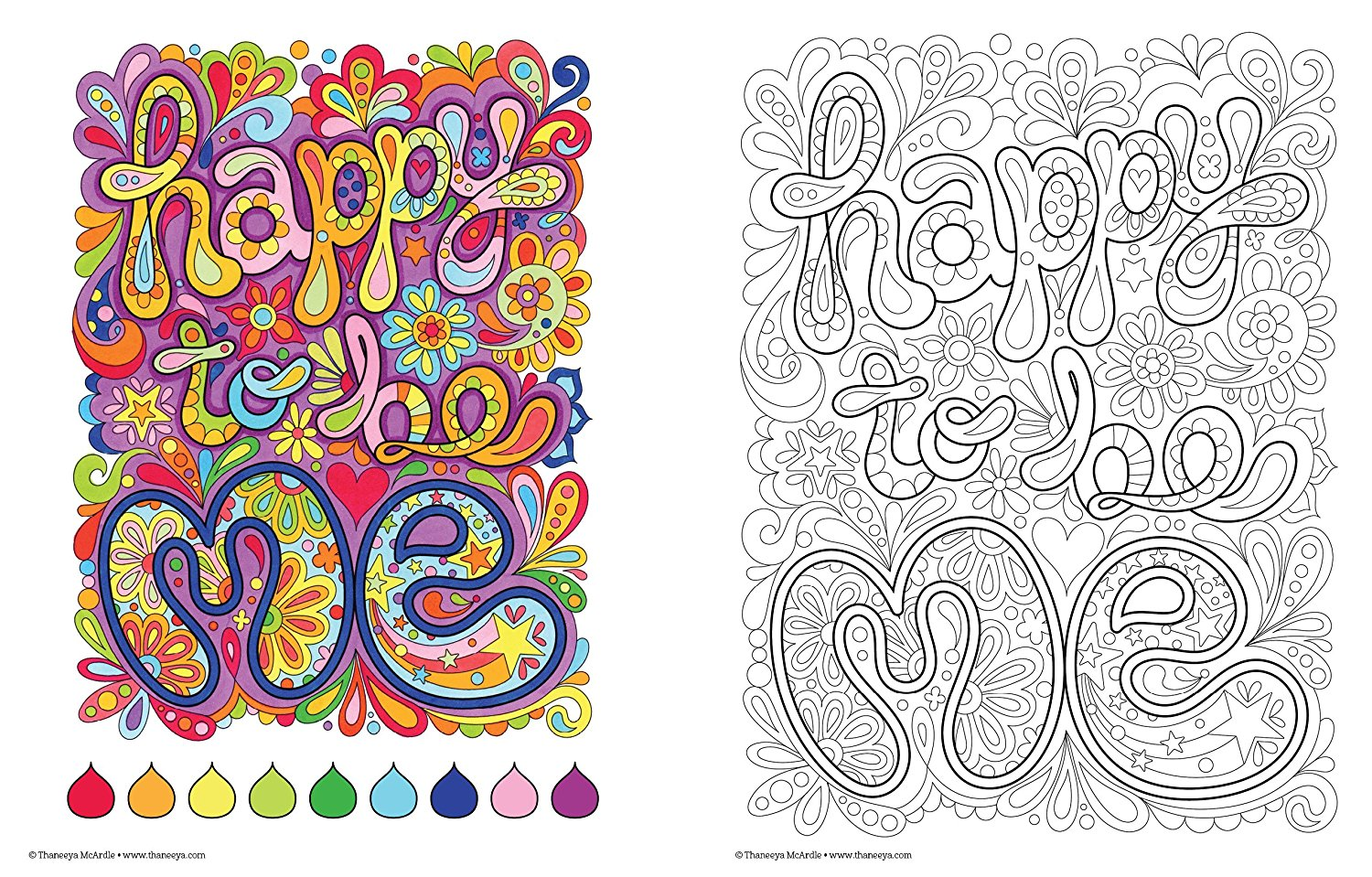 Good Vibes Coloring Book (Coloring Is Fun) - Adult Coloring Book Club