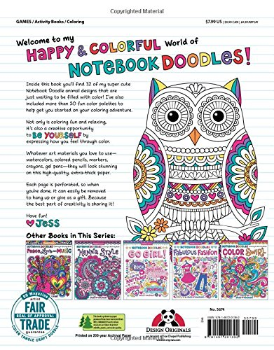 Coloring & Super Cute Activity Notebook Doodles Book