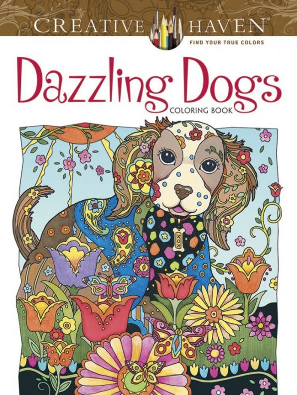 Creative Haven Dazzling Dogs Coloring Book Adult Coloring