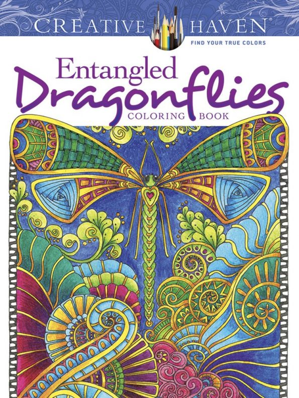 Creative Haven Entangled Dragonflies Coloring Book (Adult Coloring)