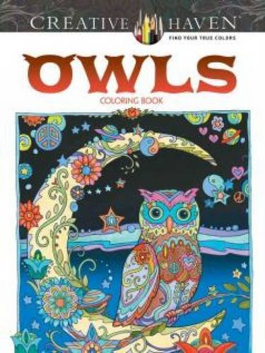 Creative Haven Owls Adult Coloring Book
