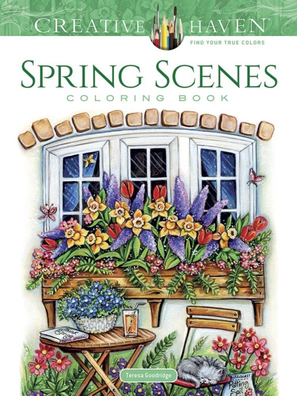 creative haven spring scenes coloring book creative haven coloring books - Creative Haven Coloring Books