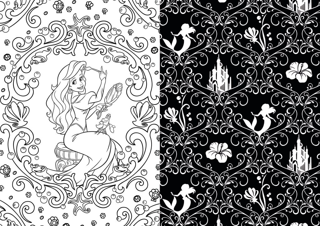 Disney character coloring pages