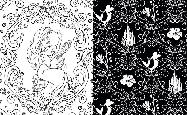 Creativity-and-Relaxation-Therapy-Art-Art-of-Coloring-Disney-Princess-100-Images-to-Inspire-