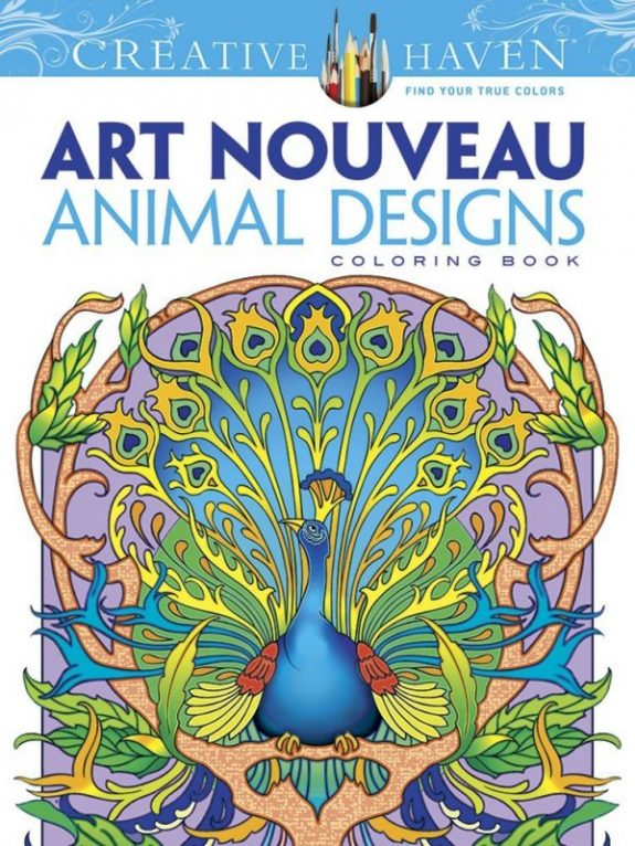 Designs Coloring Book Dover Creative Animal Adult Haven Art Nouveau Coloring