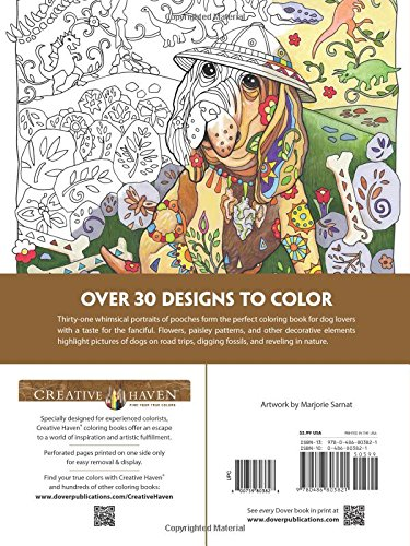 Dogs Coloring Book Creative Haven Dazzling Adult Coloring