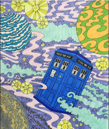 doctor who coloring book for adults - Doctor Who Coloring Book