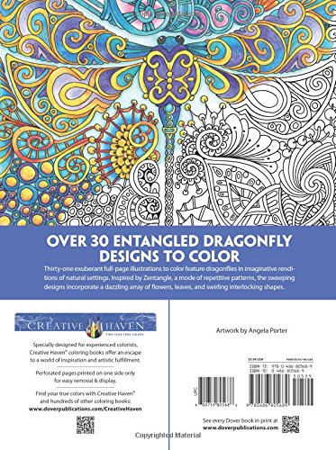 Creative Haven Entangled Dragonflies coloring book for adults