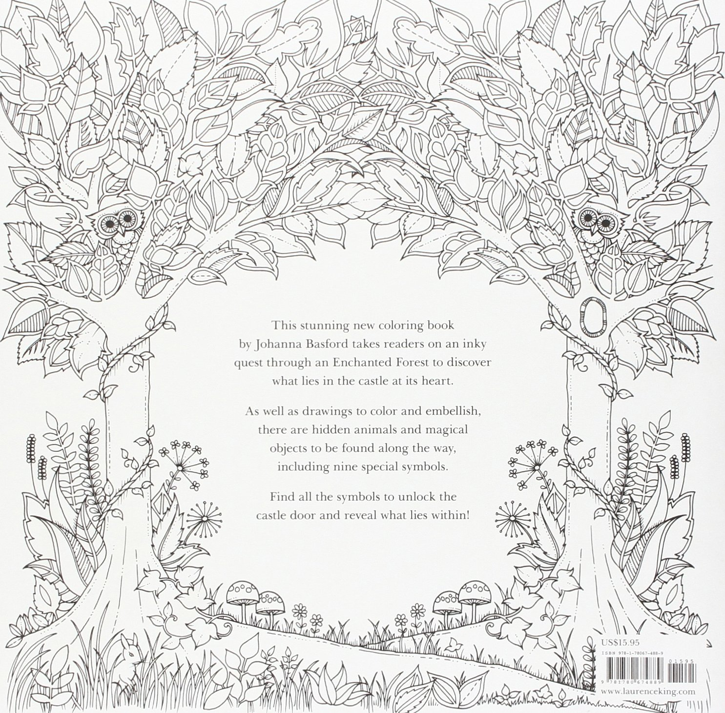81 Enchanted Forest Coloring Book Dragon