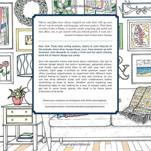 Home decor and design coloring book for adults