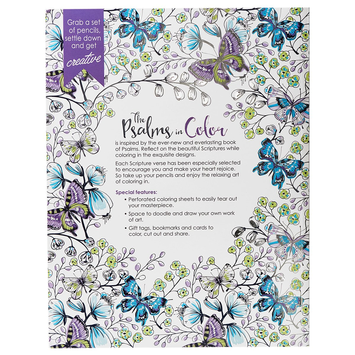 Inspirational Adult Coloring Book The Psalms In Color
