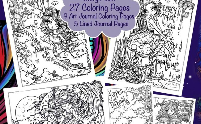 Inspirational Journey I Dream in Book Color An Coloring
