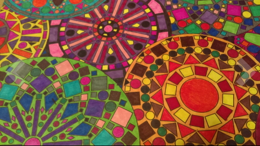 Kaleidoscope coloring book