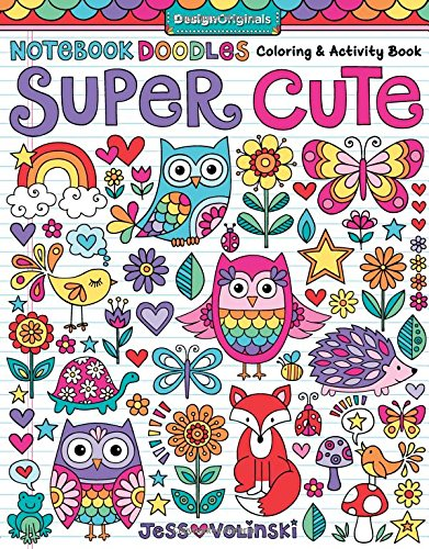 Notebook Doodles Super Cute Coloring & Activity Book
