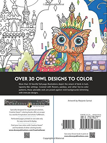 Owl designs for coloring for grownups