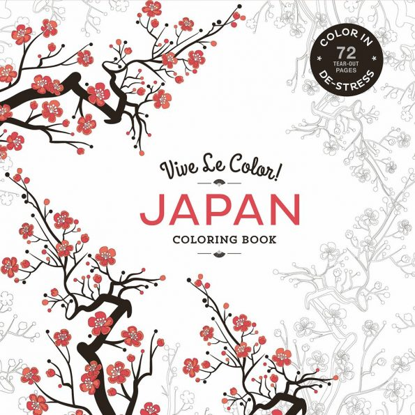 Vive Le Color Japan Adult Coloring Book Color In De Stress 72 Tear Out Pages