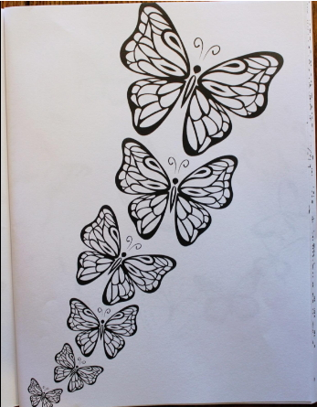 Butterfly patterns for coloring
