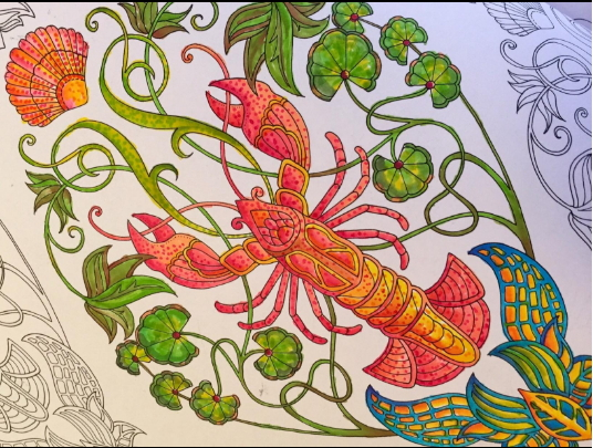 Lobster ocean sea adult coloring pages