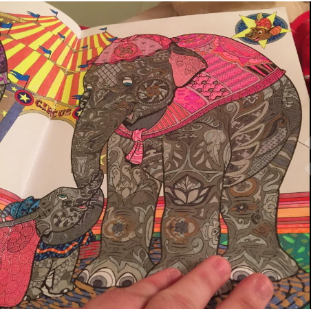 Disney Elephants coloring pages for grownups