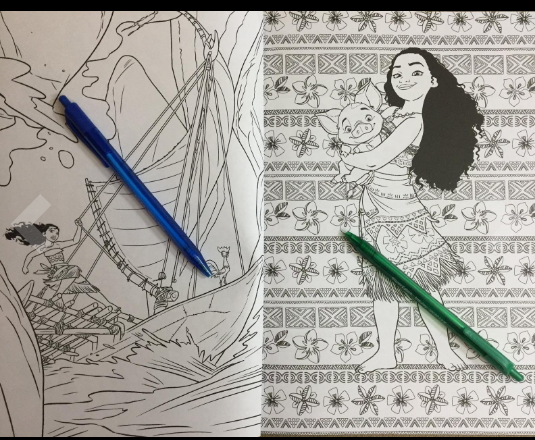 Disney Moana adult coloring book