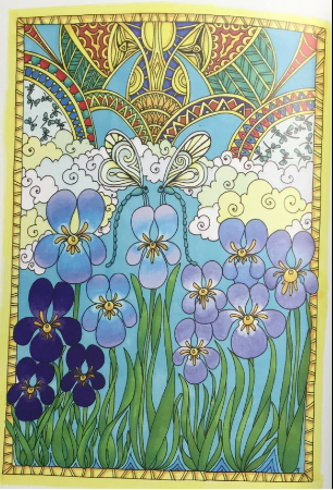 Nature & Dragonflies adult coloring pages