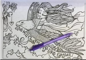 Inspiring phrases adult coloring book
