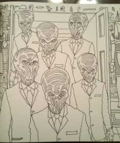 Adult Coloring pages with Doctor Who characters