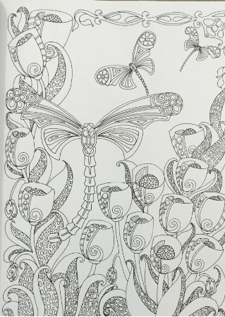 Dragonfly coloring pages for adults