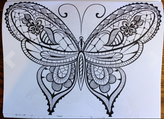 Adult Coloring Book: Butterflies and Flowers : Stress Relieving ...