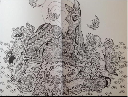 Disney Animals Adult Coloring Book