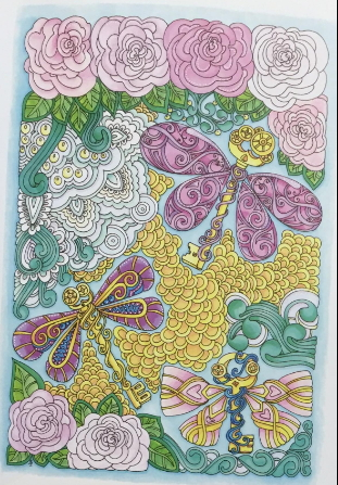Entangled Dragonflies Adult Coloring Book