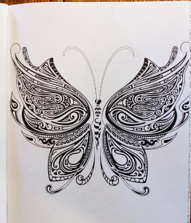 Butterfly coloring sheets