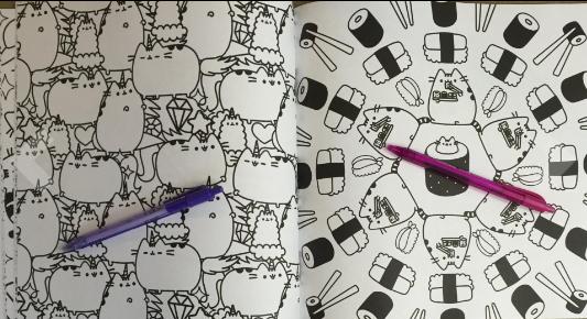 Pusheen cartoon cat coloring pages