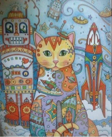 Adult Coloring Cat Pages By Creative Haven