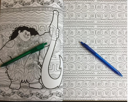 Disney's Moana Coloring Book for grown-ups