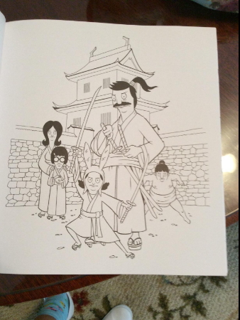 Adult Coloring pages from Fox Bob's Burgers TV show
