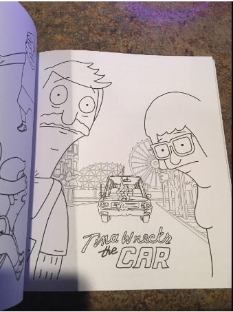 Tina Wrecks the Car - Bob's Burgers Coloring Page