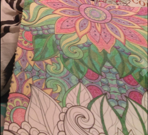 Kaleidoscope coloring book for grownups