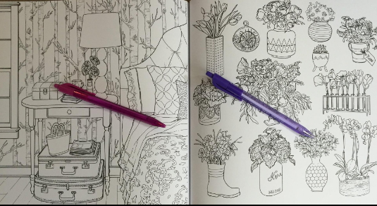 Home Decor Coloring Pages For Adults