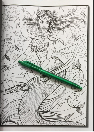 Adult coloring mermaid pages