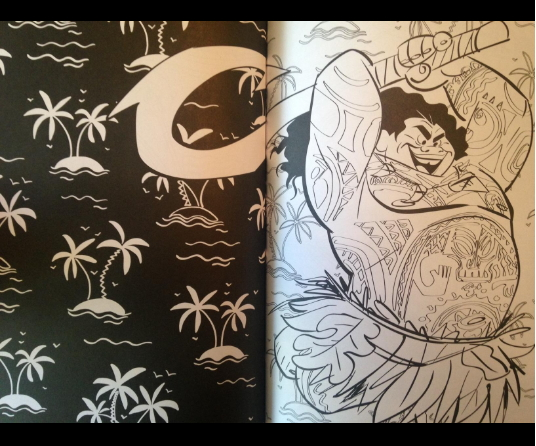 Moana has a great family coloring book from Disney