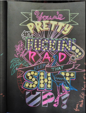 Motivational swearing coloring book for grown ups