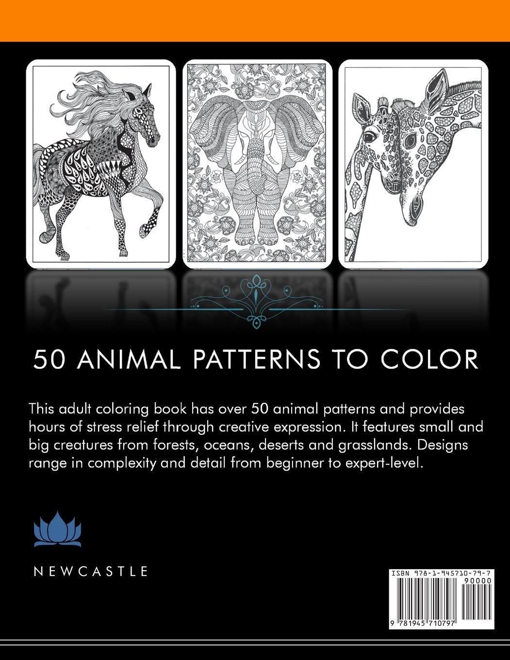 Stress Relieving Adult Designs Animal Coloring Book