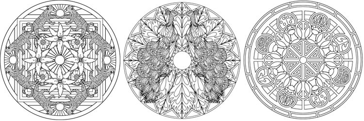 Animal Mandalas Stress Relieving Adult Coloring Book Pages For Relief