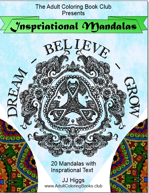 Inspirational Mandalas Coloring Book to Relieve Stress