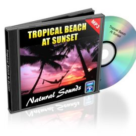 Tropical Beach at Sunset – Naturally relaxing sounds